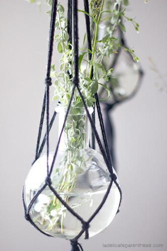 la délicate parenthèse création DIY macramé suspensions végétales