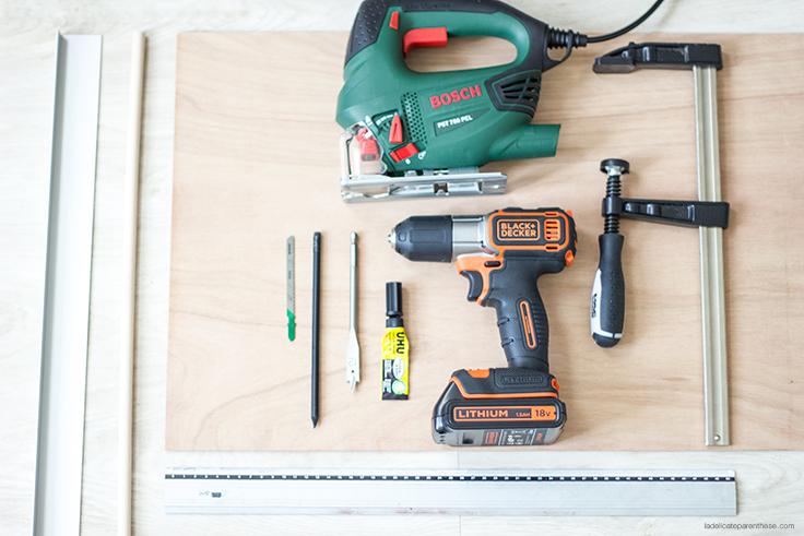 outils réalisation peg board agenda, DIY création la delicate parenthese
