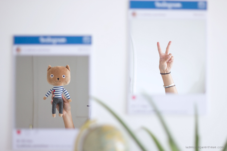 Instagram frame DIY miroir la délicate parenthèse blog déco