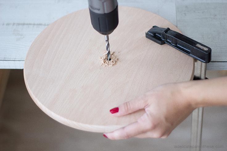 a délicate parenthèse création DIY blog déco handmade horloge minimaliste