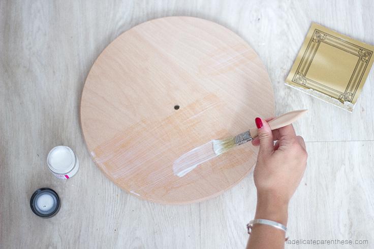 a délicate parenthèse création DIY blog déco handmade horloge minimaliste suspendue