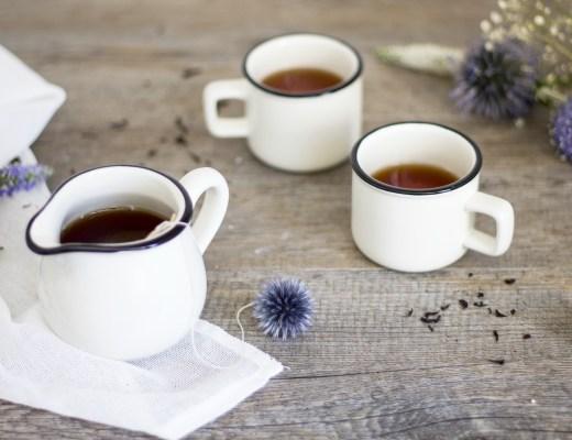 création de sachets de thé fleuris handmade blog déco