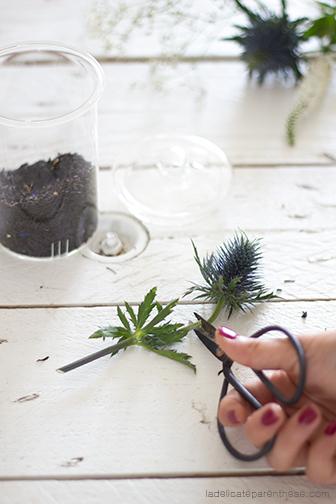sachets de thé à faire soi même pour l'automne, avec chardon et bleuets