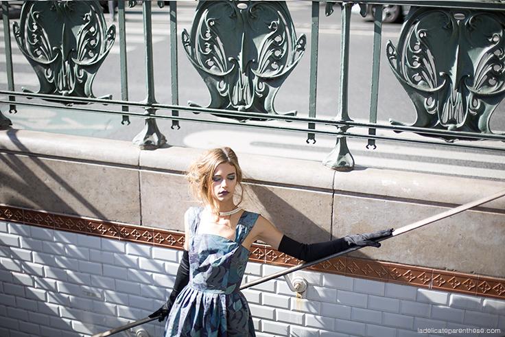 mannequin inspiration déco shooting dans métro parisien