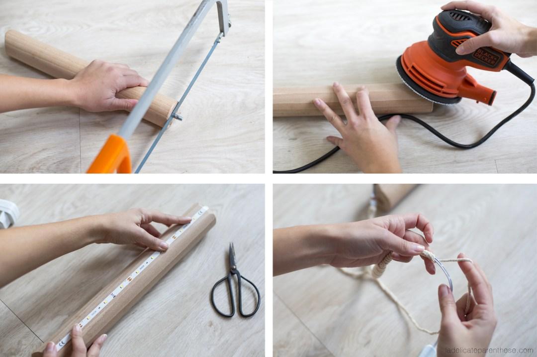 création d'une lampe baladeuse en bois pour la décoration