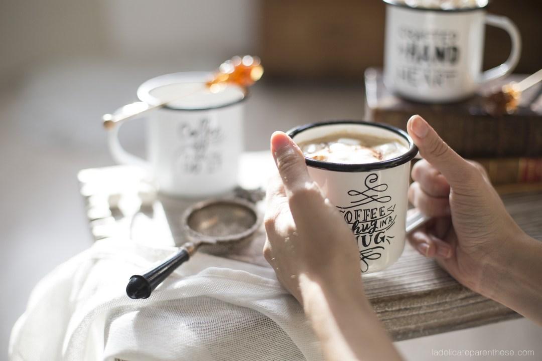 moment coffee time DIY mug en émail customisé