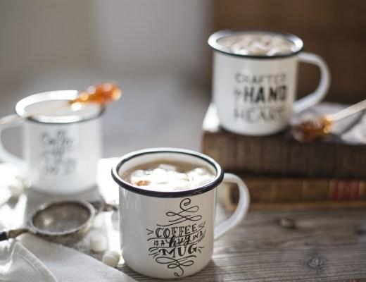 home détails créations DIY mug émaillés handwritter
