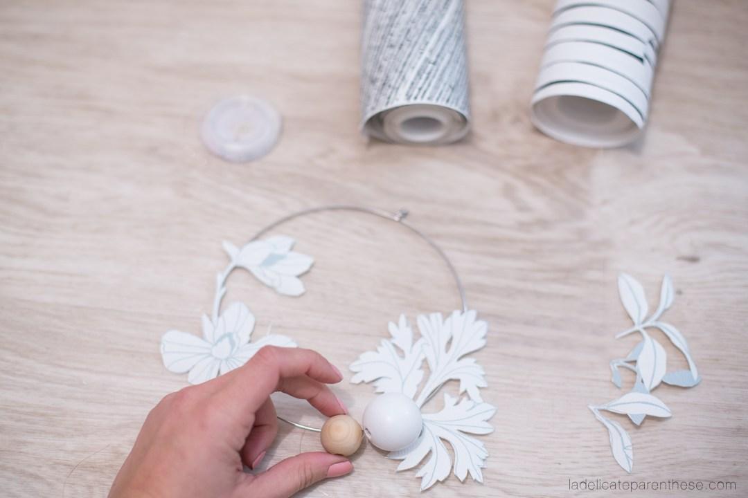 Création de couronne fleurie DIY