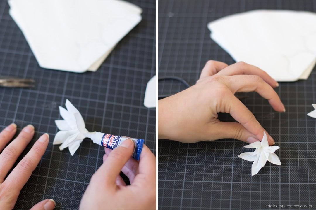 DIY création couronne papier fleurie vaiana disney