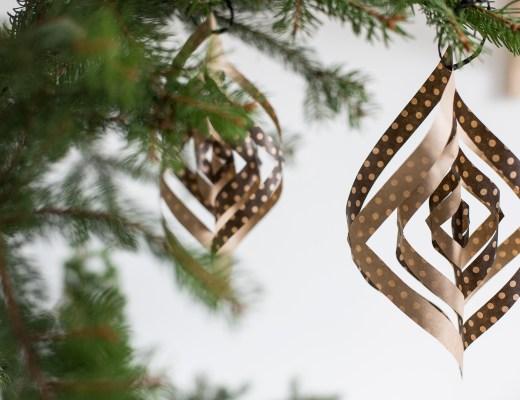 boule de Noel en papier décoration création origami
