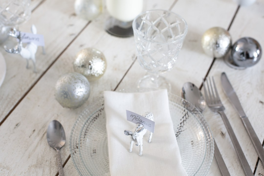 Décoration de table de noel, inspiration DIY