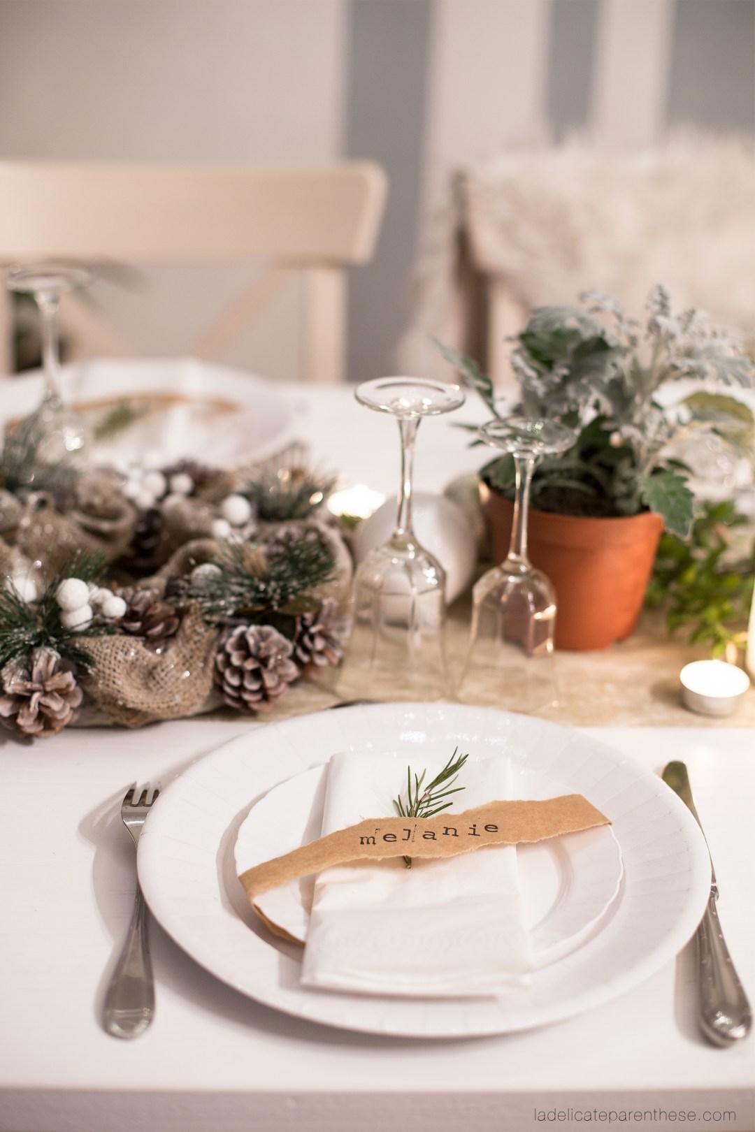 Table de Noel inspiration végétale DIY handmade blog déco