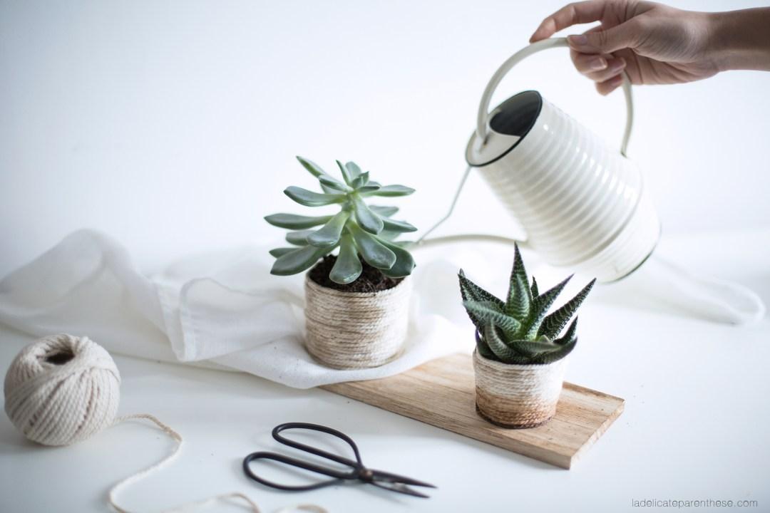 Créez un cache pot en corde pour la décoration de la maison grâce à ce DIY