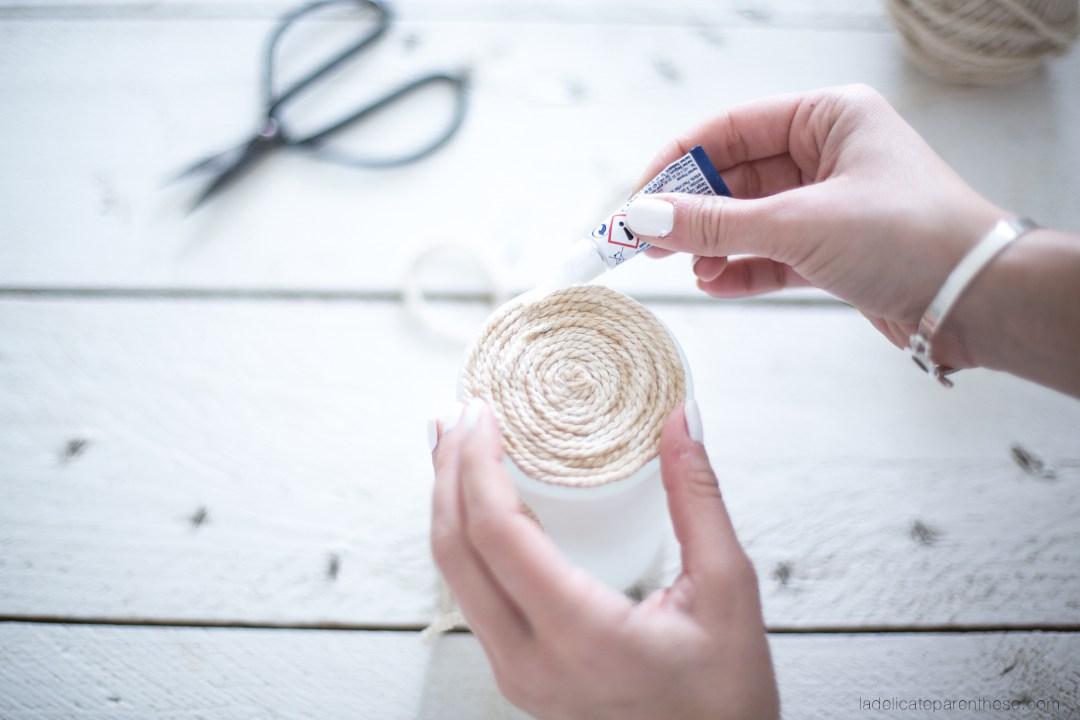 créez vorte propre cache pot en corde