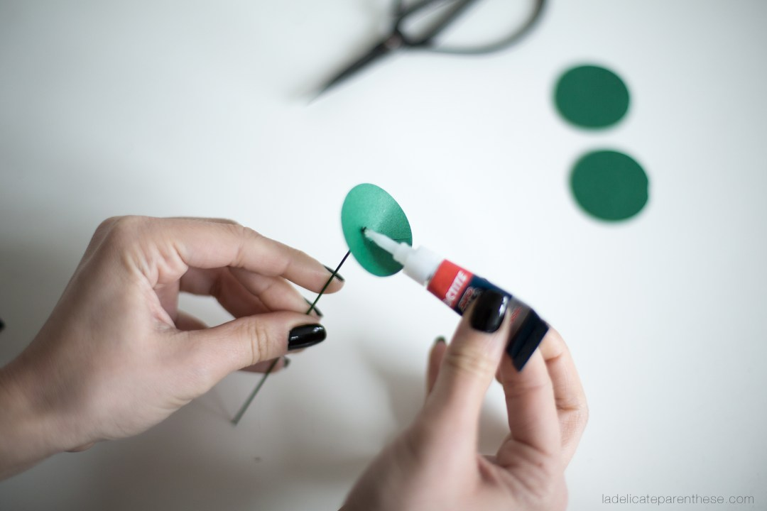 DIY création pilea peperomioides en papier handmade