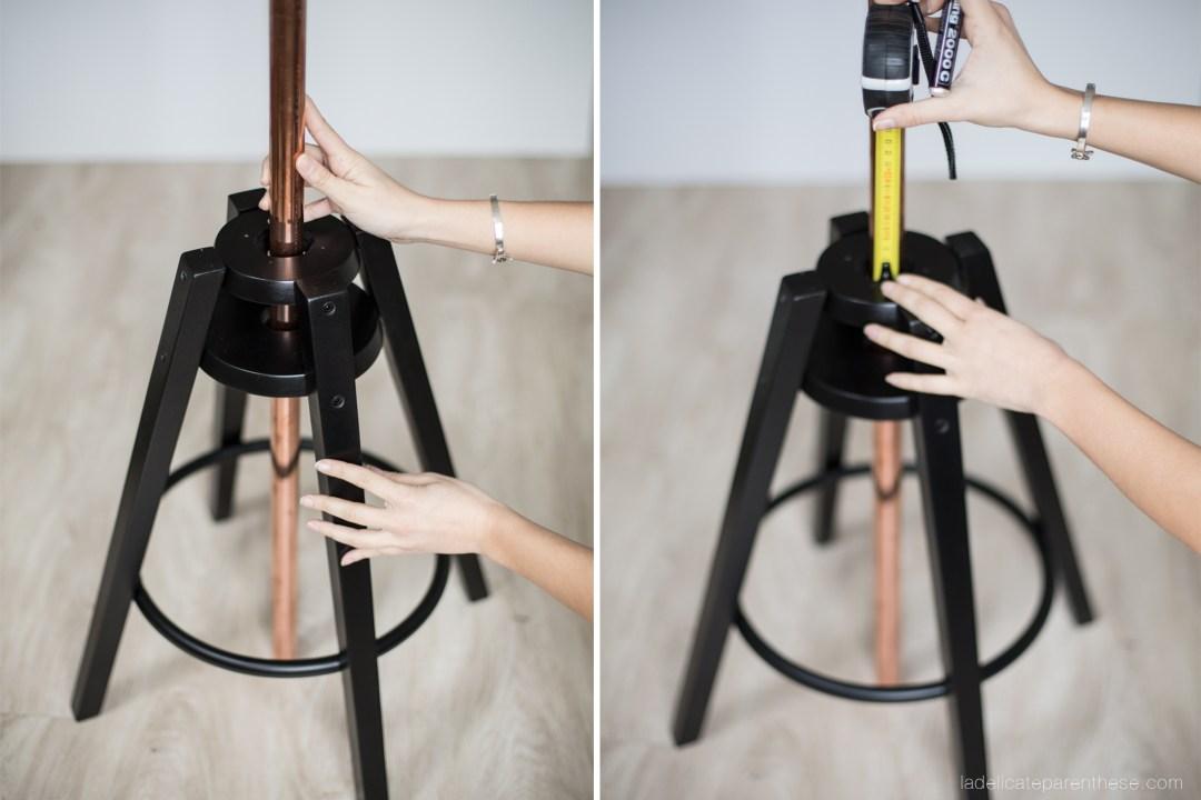 home création luminaire DIY IKEA HACK