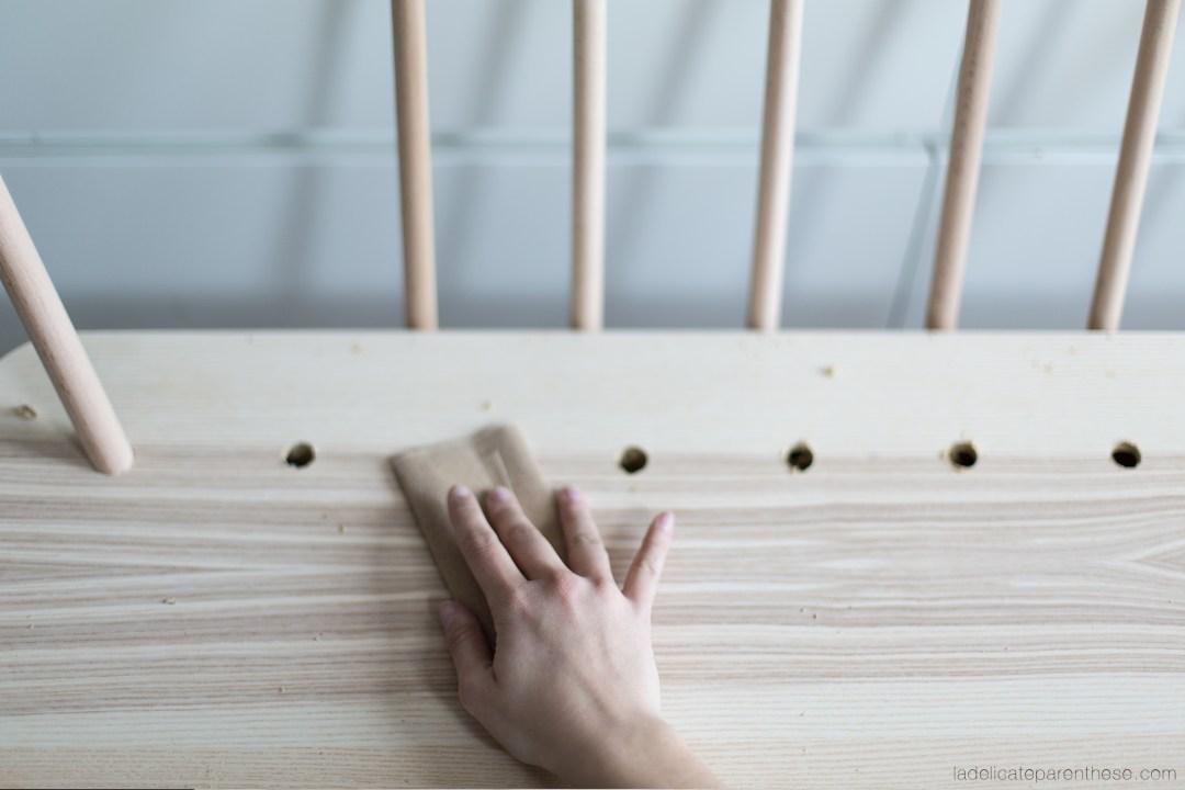 Blog DIY création détourner une table basse LISABO ikea en banc inspiration scandinave