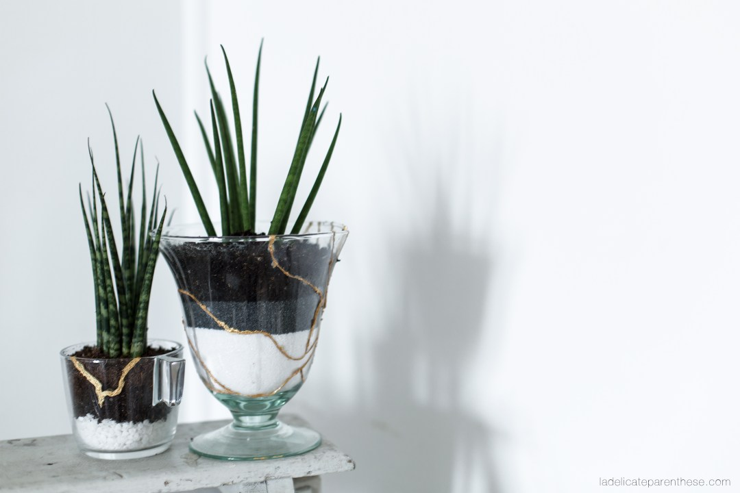 DIY blog handmade terrarium kintsugi