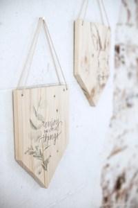 DIY fanion de bois, handmade création blog décoration table de paques