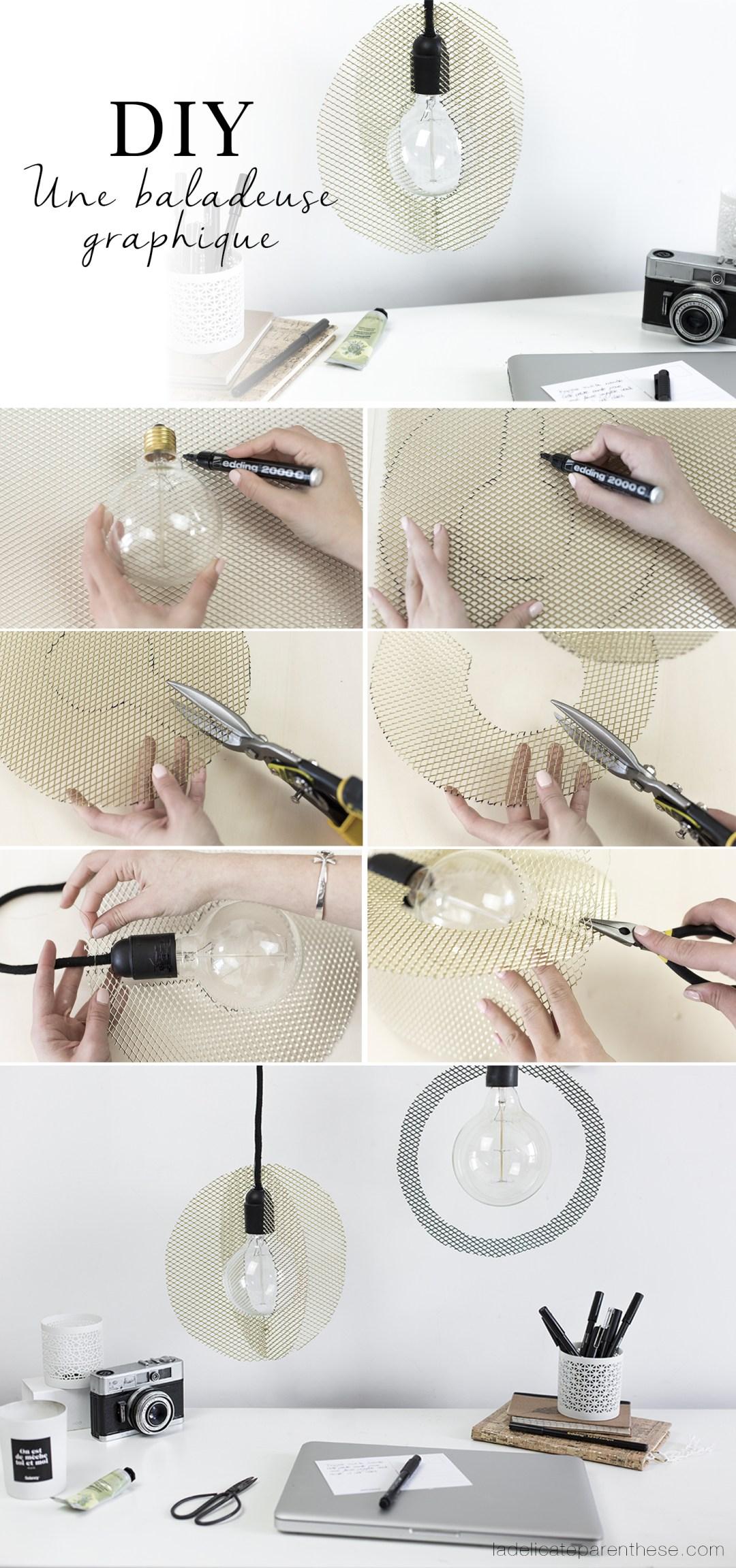 DIY lampe graphique pas à pas création handmade