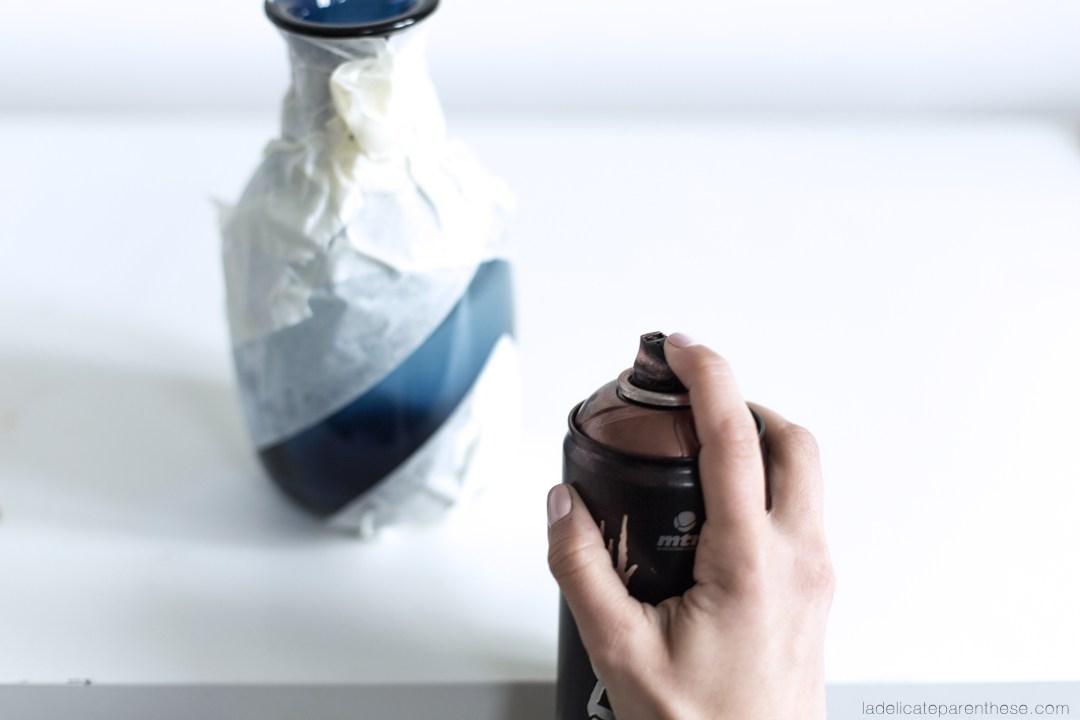 DIY vases liège et or, blog décoration