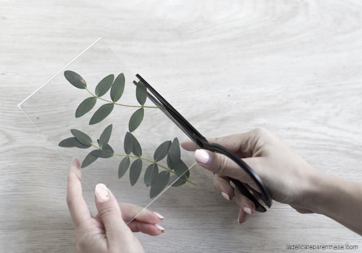 découpe herbier création DIY handmade