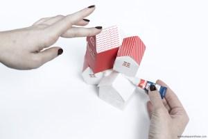 étape création DIY cloche village en papier