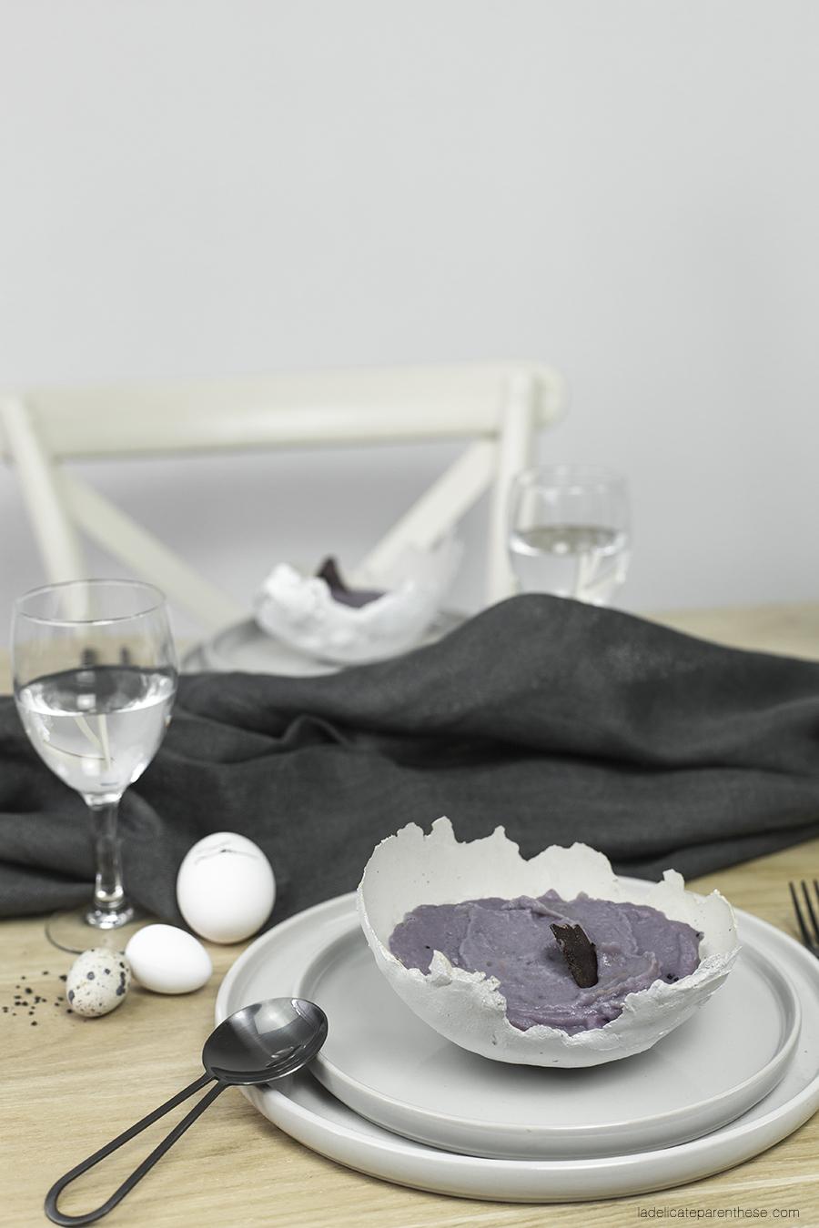 création bol DIY en béton pour jolie table de Pâques