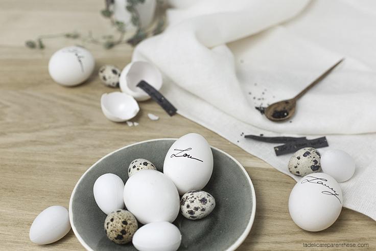 créer des oeufs de Pâques à message, marques places