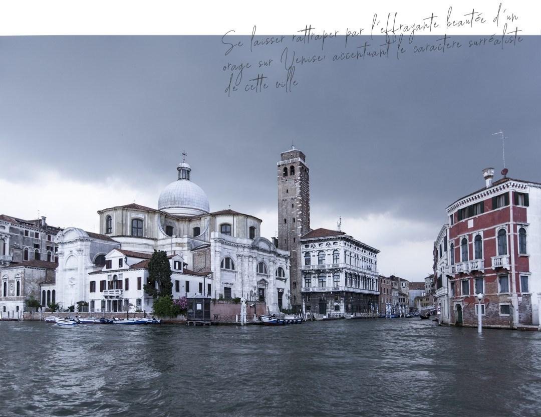 note de voyage 3 jours de découverte de Venise avec l'arrivée de l'orage