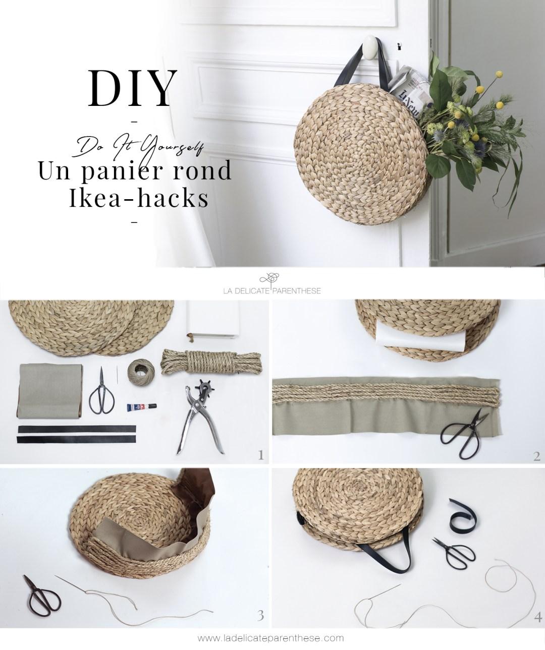 creation DIY panier rond grâce au IKEA HACK