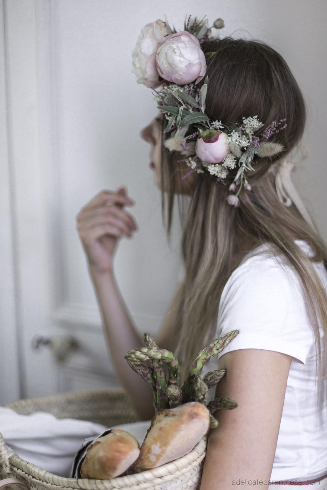 Flower crown La Délicate Parenthèse création
