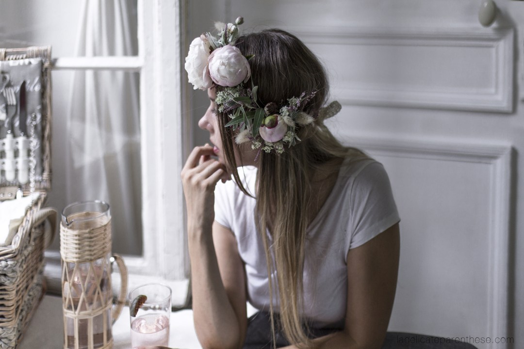 Do it yourself Flower crown La Délicate Parenthèse création