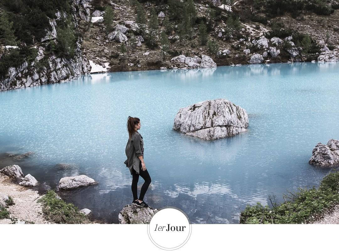 Lago di sorapis , lac du Sud tyrol, voyage sur la route des dolomites- road trip