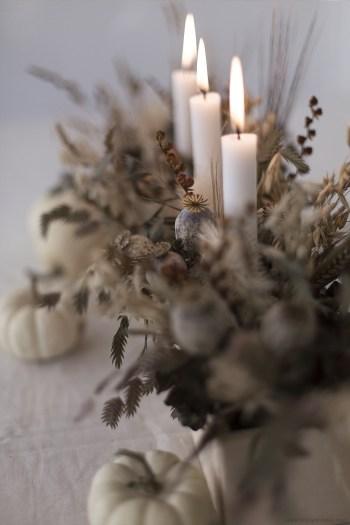 DIY halloween centerpiece flower handmade