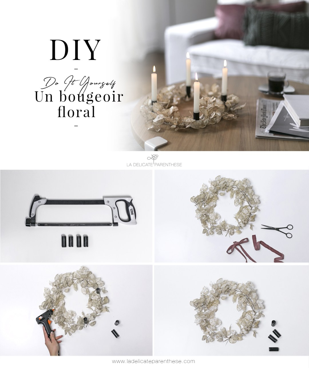 DIY handmade création interior design bougeoir