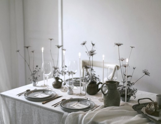 christmas table minimal home