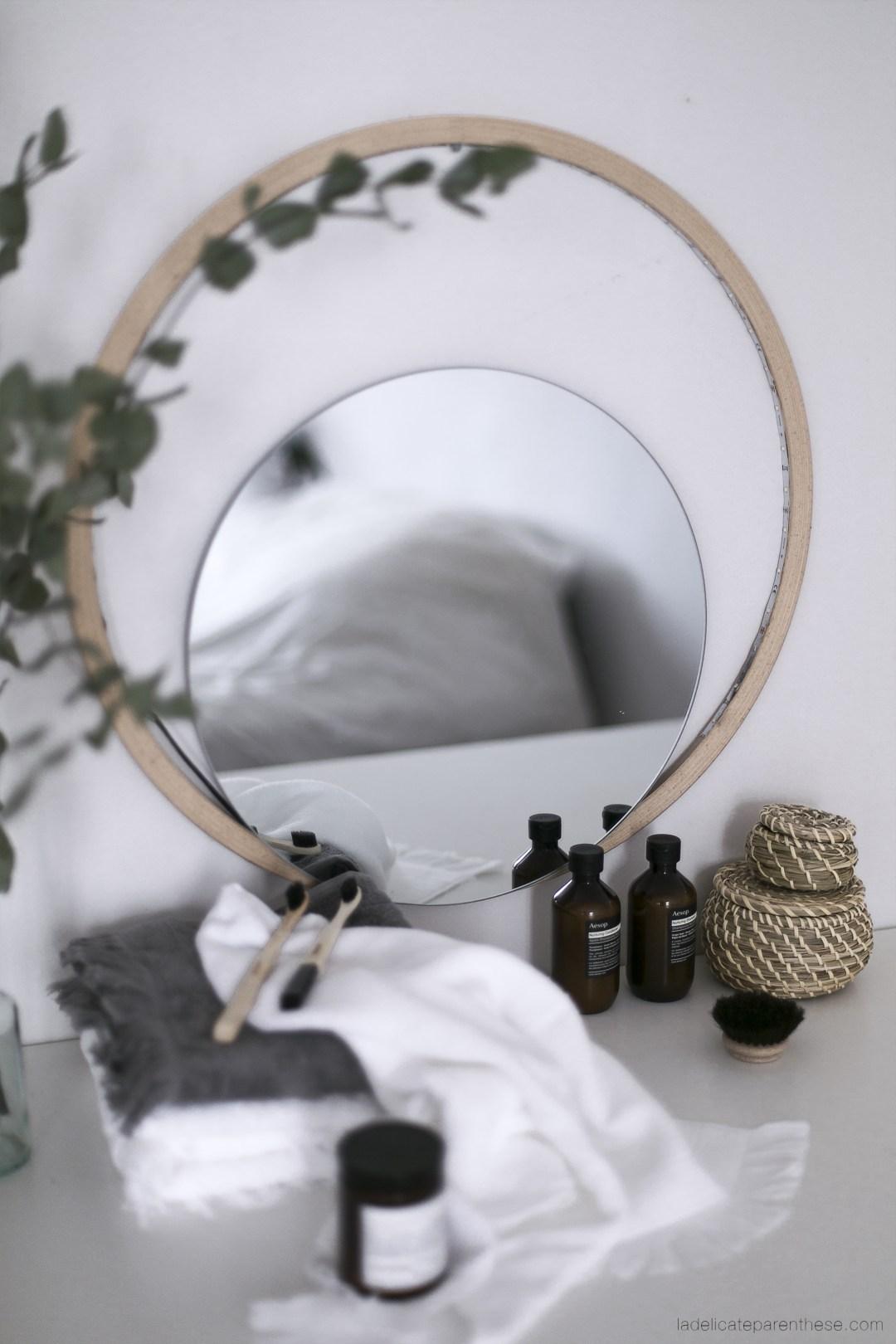 miroir murale lumineux de salle de bain