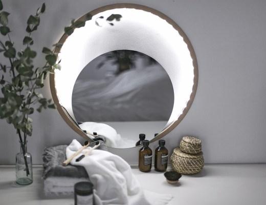 home création do it yourself un miroir lumineux pour ma salle de bain