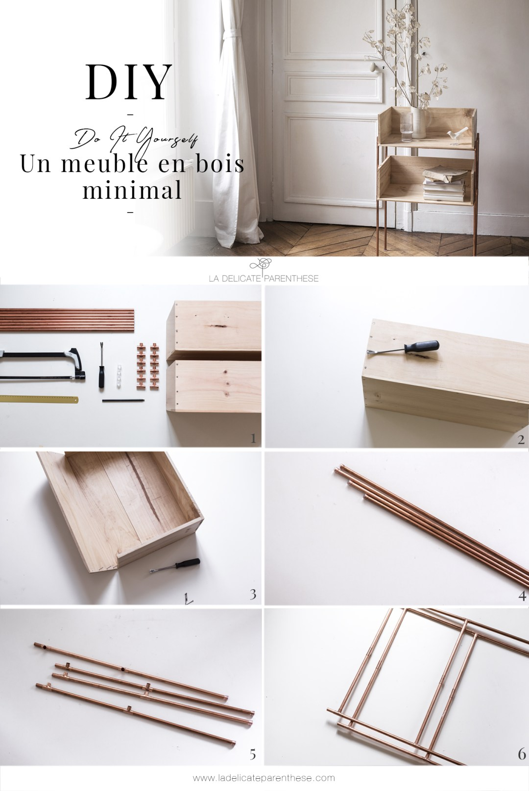 DIY pas à pas création d'un meuble minimal en détournant des caisses à vins