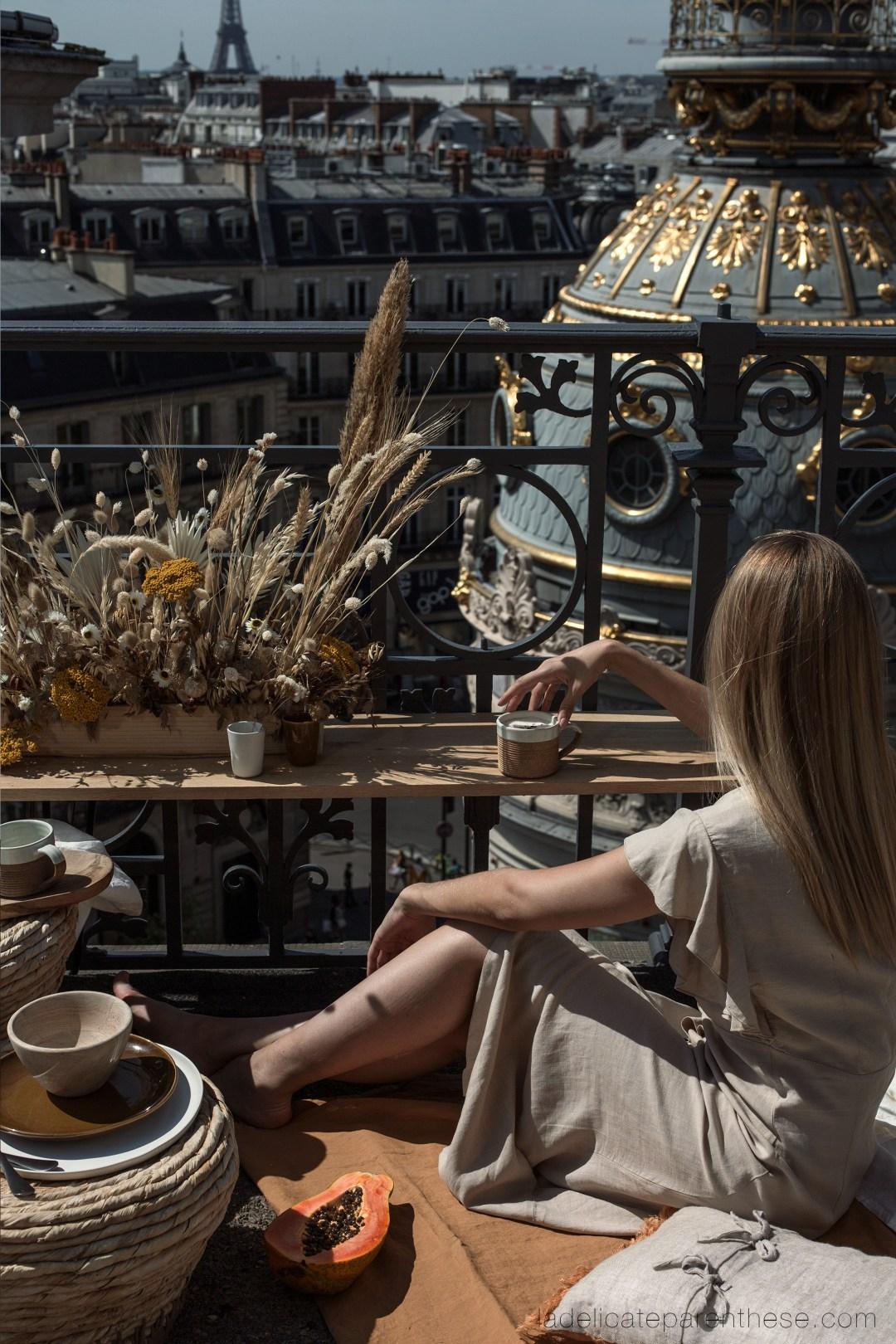 Scénographie printemps toits de Paris