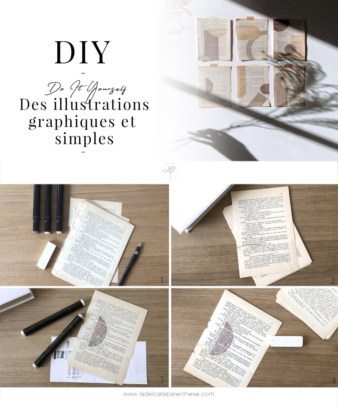 illustrations graphiques pages handmade Do It Yourself