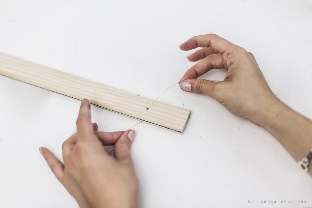 creation DIY suspension vegetale epuree fixation