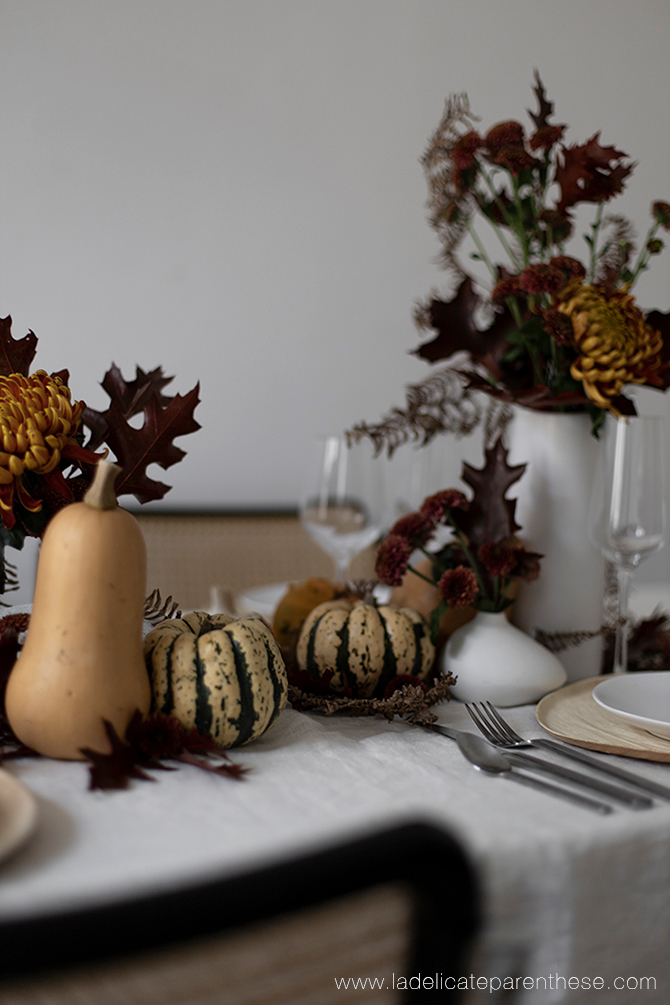 composition de table decoration automne