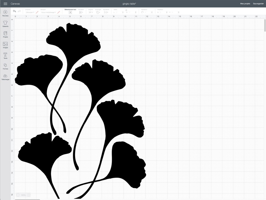 gingko dans cricut design space