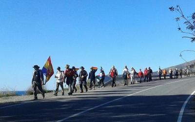 La segunda marcha La Desbandá por las carreteras de la muerte desde Málaga a Almería.