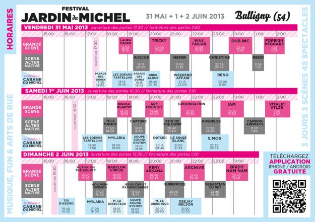 Jardin-de-Michel-2013-horaires-de-passage-La-Deviation