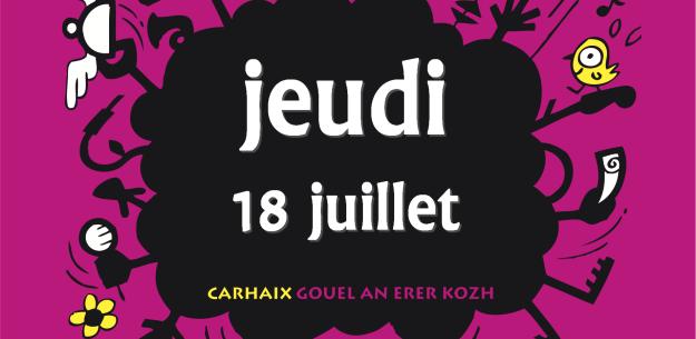 Notez les concerts du jeudi 18 juillet aux Vieilles Charrues 2013 - La Déviation