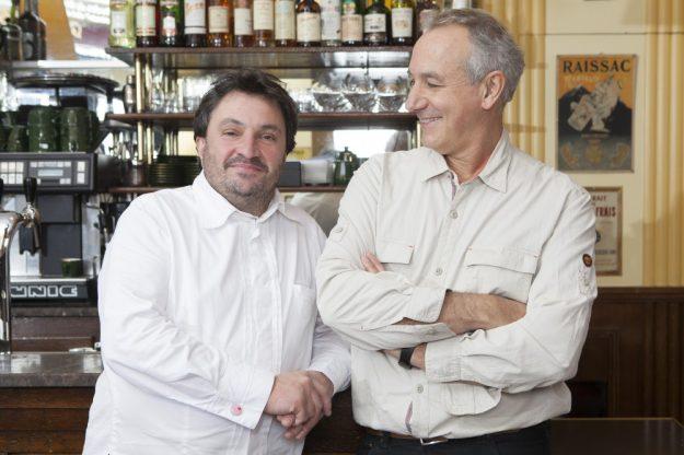Yves Cambeborde et Jacques Ferrandez. Crédits : Olivier Gonin