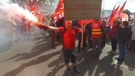 Manifestation contre les ordonnances sur le droit du travail à Lannion - La Déviation